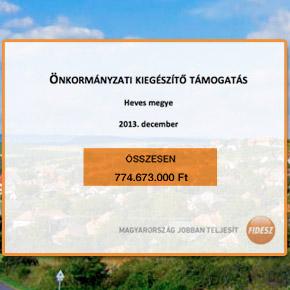 Heves megye: 774 milliós támogatás a településeknek