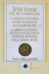 Emléktábla: Ziffer Sándor hazatért Egerbe