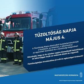 A magyar kormány köszönetét fejezi ki a tűzoltóknak