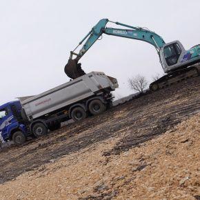 Jól halad az M25-ös összekötő út építése