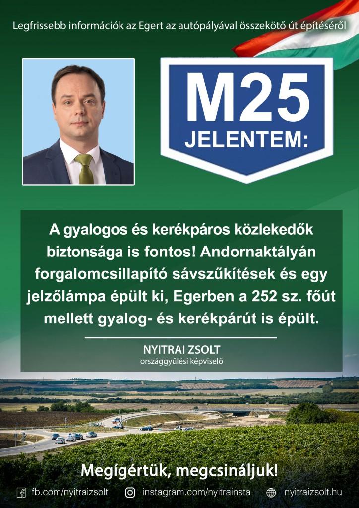 M25 jelentem: Megígértük, megcsináljuk!