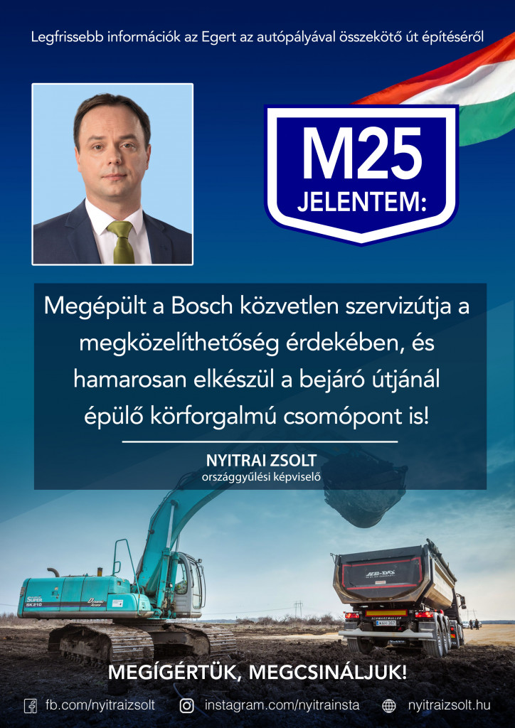 M25: Megépült a Bosch szervizútja